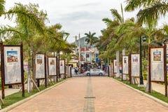 Exhibiciones jamaicanas de la cultura y de la historia en el puerto de la travesía de Falmouth fotos de archivo libres de regalías