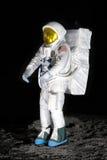 Exhibit of astronaut as moon explorer Stock Photos