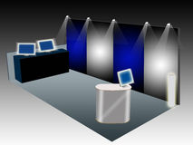 Exhibit booth. Illustration of a booth use for exhibition Stock Photos