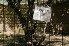 Exhibit Closed Sign - Los Angeles Zoo Royalty Free Stock Image