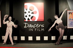 Exhibit covering 'Dancers in Film', National Museum of Dance and Hall of Fame,Saratoga Springs,New York,2015 Royalty Free Stock Images