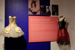 Exhibit covering some history of Barbara Karinska,National Dance Museum,Saratoga,2015 Stock Images