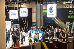 Exhibit Hall at CES 2017 Royalty Free Stock Images