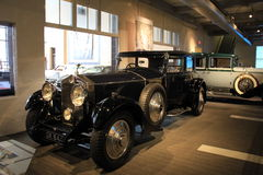 Exhibit of historic,fancy vehicles on display, Automobile Museum,Saratoga Springs,NY,2015 Royalty Free Stock Image