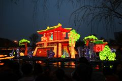 Lantern show. Exhibit of lanterns.A lantern display at a temple fair in chengdu.During Spring Festival time, you can see kinds of decorations. you can go to stock photos