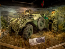 Exhibit at the Military Museums, Calgary Stock Photography
