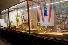 Exhibit of Naval ship encased in glass, Visitors Center, Albany, New York, 2016 Stock Image