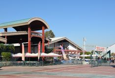 Exhibit Pavilions at the OC Fair and Event Center. COSTA MESA, CA - DEC 1, 2017: Exhibit Pavilions at the OC Fair and Event Center. The buildings host Stock Photos