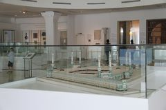 Exhibit of scale model of Masjid al-Haram in Islamic Art Musium royalty free stock photography