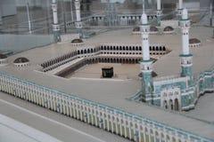 Exhibit of scale model of Masjid al-Haram in Islamic Art Musium stock photography