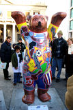 Exhibit (United Buddy Bears - Uruguayan Bear) Royalty Free Stock Images