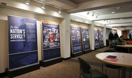 An exhibit about Woodrow Wilson's Legacy at Princeton University Royalty Free Stock Images