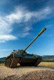 Exhibited a tank T-55 Stock Photo