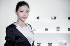 Exhibiting the 2013 China P&E Royalty Free Stock Photos