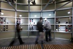 Exhibition. In a futuristic setting Stock Photos