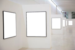 Exhibition. Frames on Exhibition on empty hall Royalty Free Stock Photo