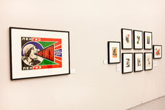 At the exhibition of Alexander Rodchenko photography. Moscow House of Photography. Royalty Free Stock Photos