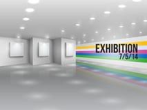 Exhibition announcement advertising invitation Stock Photos