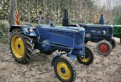Exhibition of antique tractors Royalty Free Stock Photos
