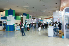 Exhibition area. The Fourth China Cloud Computing Conference was held in China National Convention Center in 2012.5.23-2012.5.25. This is corner of exhibition Royalty Free Stock Image