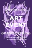 The exhibition art flayer, Royalty Free Stock Image
