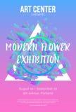 The exhibition art flayer, Stock Photos