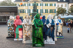 Exhibition of Beethoven statues Royalty Free Stock Images