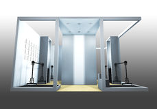 Exhibition Booth. 3d render of a blank trade exhibition booth royalty free illustration