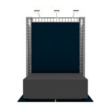Exhibition booth with podium Royalty Free Stock Images