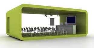 Exhibition booth on white. Blank and empty trade kiosk on white, original design, 3d illustration vector illustration