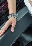 The exhibition of bracelet Royalty Free Stock Photo