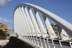 Exhibition Bridge over The Turia in Valencia, Spain Royalty Free Stock Photography