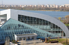 Exhibition center. Constanta new exhibition center. Constanta is the second big city in Romania situated on the Black Sea coast. This is a view of Constanta Stock Photography