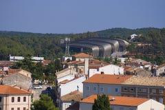 Exhibition center in Porec, Croatia. Modern Exhibition center in old croatian historic city Porec Stock Image