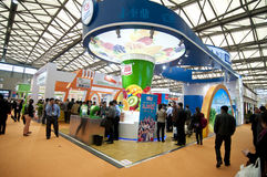 Exhibition Centre. March 2013 at the Shanghai New International Expo Center Royalty Free Stock Photography