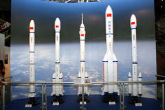 Exhibition on China's Manned Space Docking Missio Stock Images