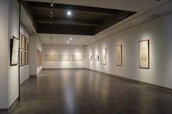 Exhibition of Chinese painting and calligraphy works Stock Photography