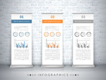 Exhibition concept infographic template design Stock Image