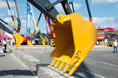 The exhibition Construction Equipment and Technologies 2013 in Moscow, Russia Stock Photos