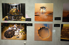 Exhibition dedicated to space photography Stock Image