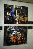 Exhibition dedicated to space photography Stock Photo