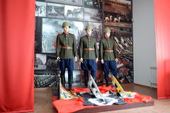 The exhibition devoted to the Victory Parade in 1945 in Moscow. Stock Photo