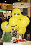 Exhibition equipment for photography in Moscow April 12, 2015. Royalty Free Stock Photography