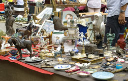 Exhibition-fair of Antiques. In Rimini on Piazza Cavour 25 July 2014 Royalty Free Stock Photography