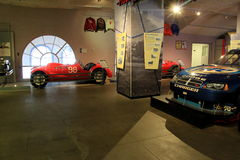 Exhibition of famous race cars,Automobile Museum,Saratoga Springs,New York,2015 Royalty Free Stock Images