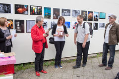 Exhibition Fotopasieka. Royalty Free Stock Photo