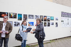 Exhibition Fotopasieka. Royalty Free Stock Image