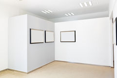 Exhibition frames Royalty Free Stock Image
