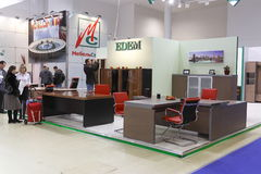 Exhibition of furniture Stock Image