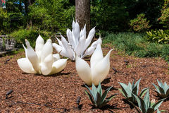 Exhibition of glass artist Chihuly in Atlanta Botanical Garden Stock Photos